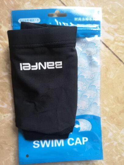 大号莱卡布帽抗氯面料 护耳PU涂层泳帽面料舒适 男女游泳帽 高弹力布莱卡班菲黑色泳帽 晒单图