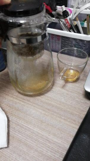 heisou茶壶大容量玻璃套装男女居家用办公带过滤内胆飘逸杯耐热玻璃茶具玲珑杯一壶四杯1000ml KT007 晒单图