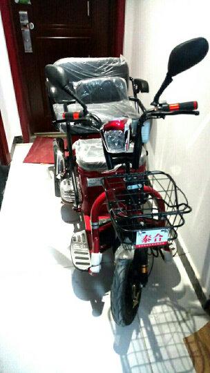 泰合 电动三轮车代步车老年代步车三轮电动车电瓶车助力车 轮毂电机48v20按铅酸电池 晒单图