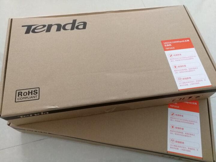腾达(Tenda)TEF1016 16口百兆交换机 钢壳标准机架式 企业工程网络专用分线器 晒单图