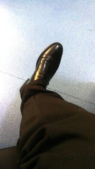 杰豪商务正装皮鞋男秋季新款尖头真皮男鞋子英伦青年系带婚鞋 黑色 40 晒单图