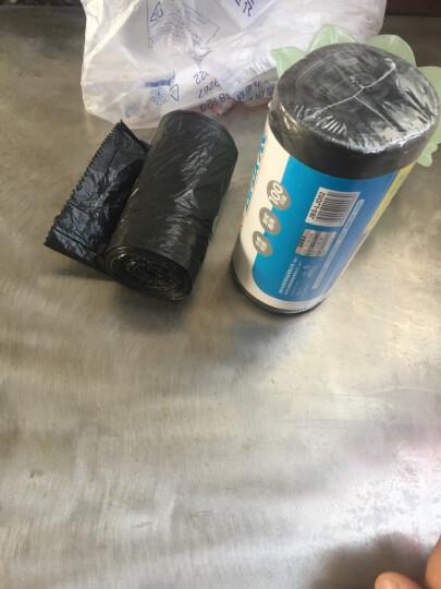 佳帮手 加厚垃圾袋平口点断式一次性塑料袋中大号家用酒店防漏专用 背心式5卷100只 晒单图