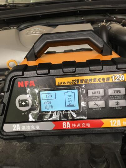 纽福克斯(NFA)汽车电瓶充电器12V智能全自动手动通用型12V伏车载蓄电池充电机 12v 12A充电器6612N 晒单图