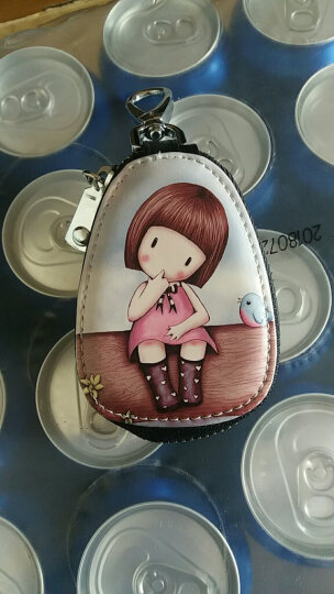 巴适(RDBS)钥匙包 女 可爱彩绘卡通锁匙包 汽车钥匙零钱包钥匙扣女士 SC201247 甜心女孩 晒单图