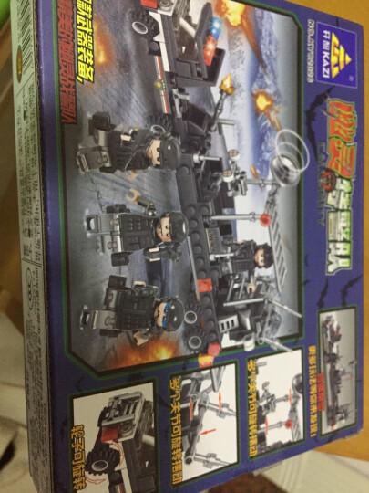 汇奇宝 玩具积木乐高创意男孩警察军事拼装模型车拼插组合儿童玩具礼盒装 八款合体战警直升机-515颗粒 晒单图