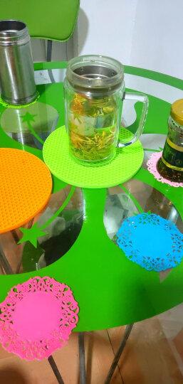 HHFA 大号圆形餐桌硅胶隔热垫套装 锅垫碗垫盘子垫餐垫 防水防烫防滑垫 咖啡色5片装 晒单图