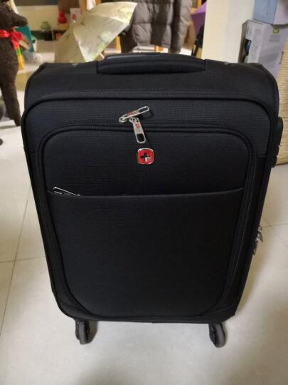 瑞士军刀威戈Wenger 20/24英寸拉杆箱 旅行箱行李箱登机箱 万向轮软箱 出差男女士 软箱黑色【20英寸】 晒单图