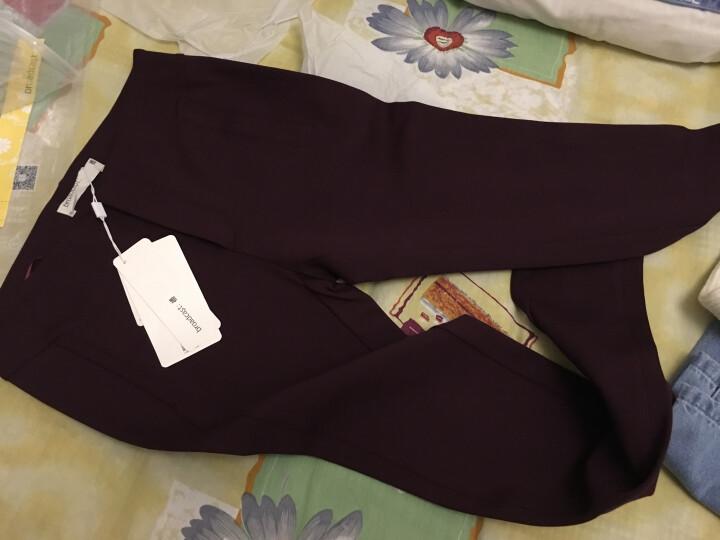 播 很久以前 新品商场同款女装罗马布修身显瘦长款紧身裤小脚裤裤装女 紫色P10 S 晒单图