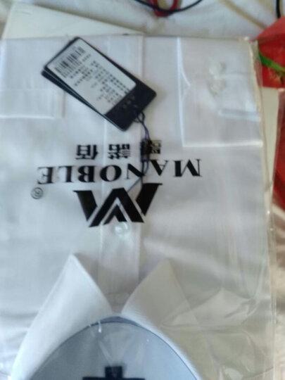 墨诺佰衬衫男长袖修身韩版商务经典百搭职业装衬衫免烫纯色白衬衣 浅蓝 17码=43码 晒单图