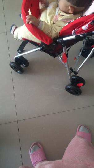 hd小龙哈彼 婴儿推车铝合金车架轻便可折叠避震宝宝儿童手推伞车 米兰红LD362-T307 晒单图