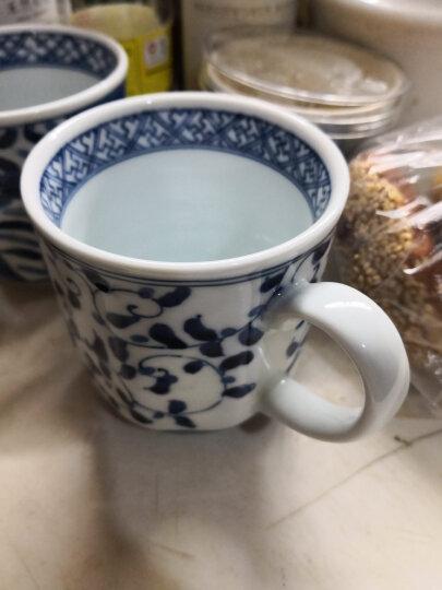 光锋 陶趣居日式 陶瓷餐具 日本进口唐草山水釉下彩青花瓷碗家用饭碗汤碗 E款卷枝唐草反口杯 晒单图