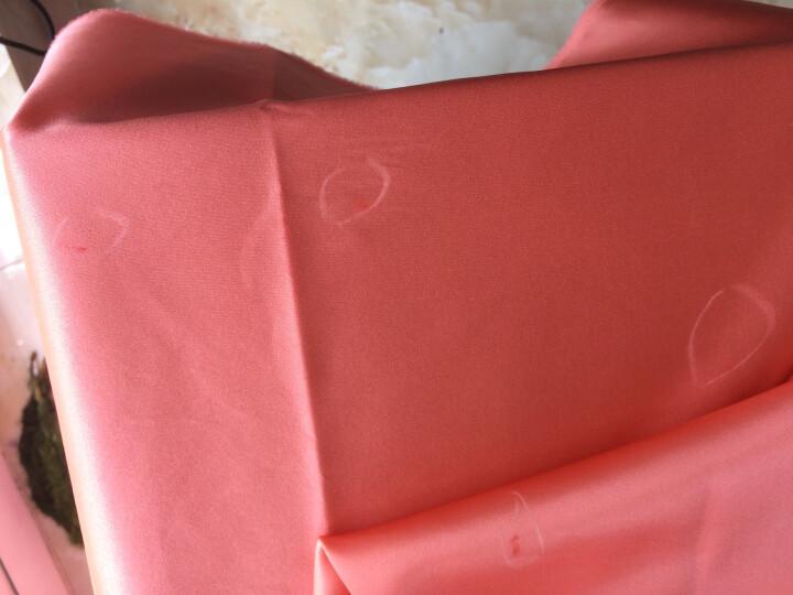 煊缎 素绉缎布料 软糯桑蚕丝弹力丝绸睡衣真丝连衣裙布料服装夏 3号 桔粉色 (SSO170410133) 晒单图