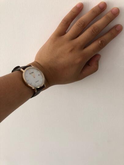 CITIZEN西铁城手表 新品男女士手表光动能小牛皮表带 时尚腕表 AU1083-13A 晒单图