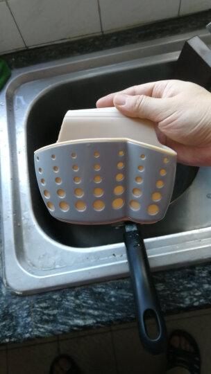SP SAUCE 日本 水槽收纳篮塑料沥水篮收纳挂篮厨房小用品厨具置物架收纳架沥水架 驼色(多数人买2个以上) 晒单图