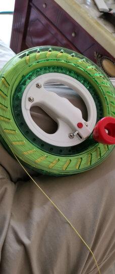 新款风筝轮风筝线组合 大轴承静音自动锁握轮 风筝线轮套餐 600米3股+22宽绿水晶(6代) 晒单图