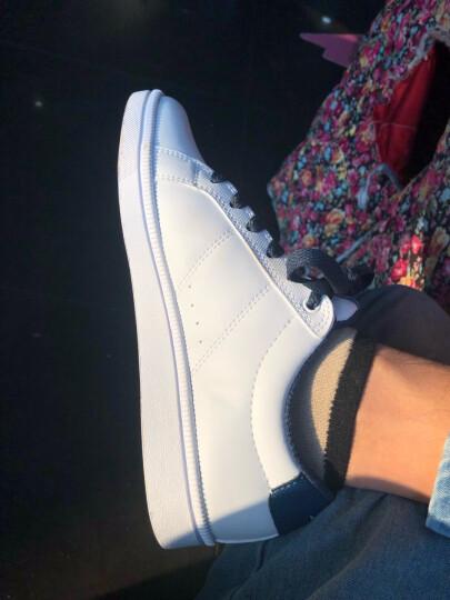 安踏男鞋板鞋2021春季韩版潮耐磨学生运动鞋男休闲鞋小白鞋跑步鞋 白/深咖啡-2 44 晒单图