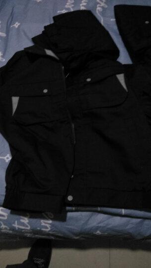 能盾春秋长袖工作服套装男上衣裤子 汽修工程服 劳保工服 工装制服 劳保服工作服定制CJ-12 大红色双层套装 185 晒单图