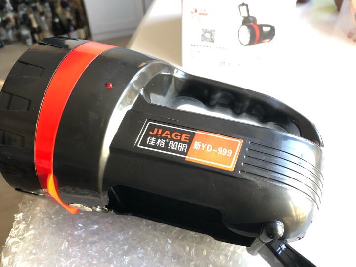 佳格 强光手电筒防水远射LED充电式探照灯防身骑行户外灯 YD新999 晒单图