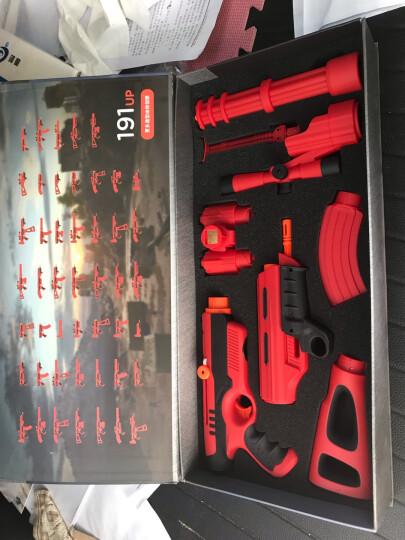 酷彼伴Magfun磁性积木玩具枪组合模型枪磁力棒拼插男孩礼物制动发声圣诞节新年礼物 磁力骑士红黑MAG-2028 晒单图