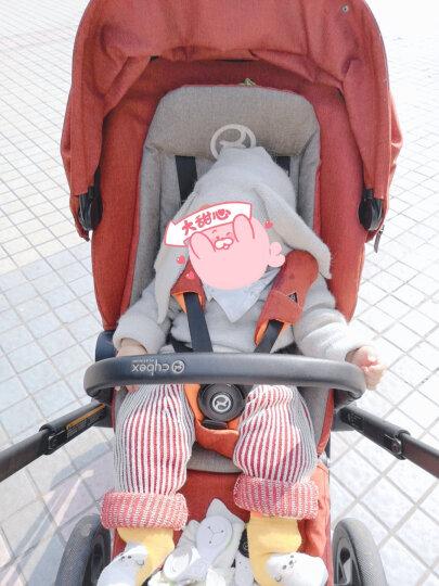 papa爬爬 秋款男女宝宝毛线背带长裤 婴儿外出背带裤婴儿衣服 红色 73CM 6-9个月 晒单图