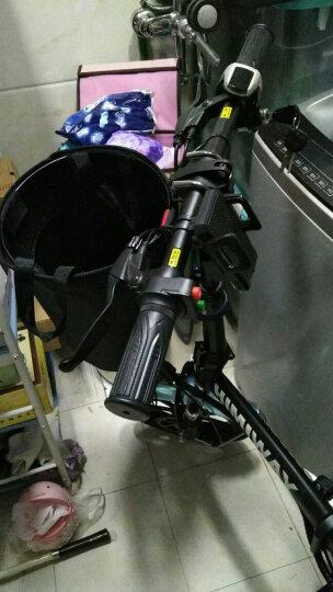 HIMIWAY嗨米 电动自行车 折叠电动车锂电池电动滑板车成人小型电瓶车代驾单车 神秘黑助力续航60-70KM 晒单图