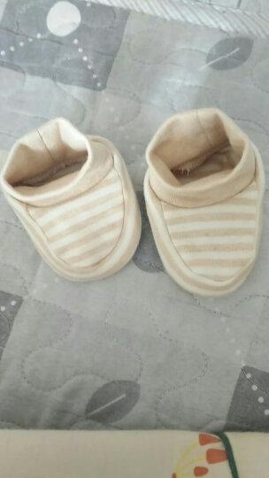 南极人(Nanjiren) 南极人婴儿脚套  新生儿鞋子纯棉护脚套 棕色粗条纹-四季款 8CM(适合0-3个月左右的宝宝,内长8CM) 晒单图