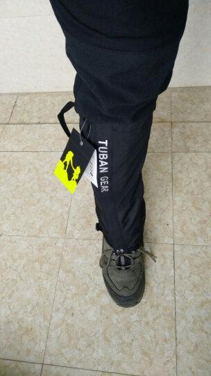 Tuban 防沙鞋套户外登山防雪雪套徒步沙漠护腿套男女款儿童滑雪防水脚套 新款黑色L码 晒单图