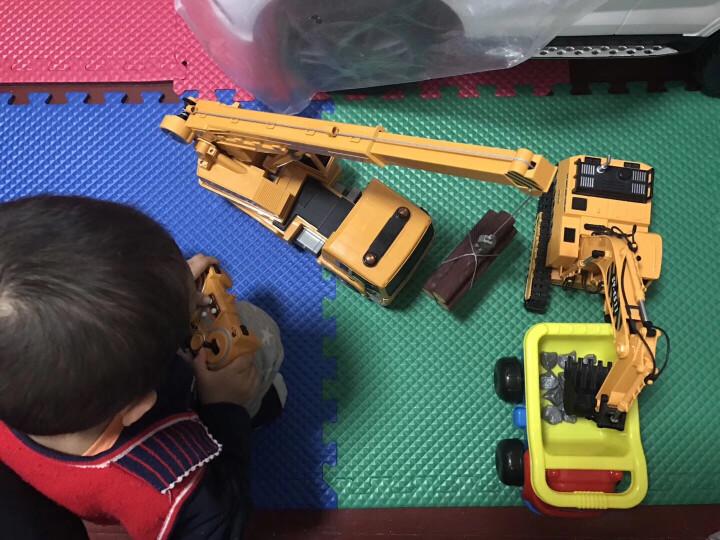 双鹰 遥控车大比例挖掘机工程车方向盘无线充电起重儿童电动玩具汽车生日节日礼物 手柄款遥控大吊车 晒单图
