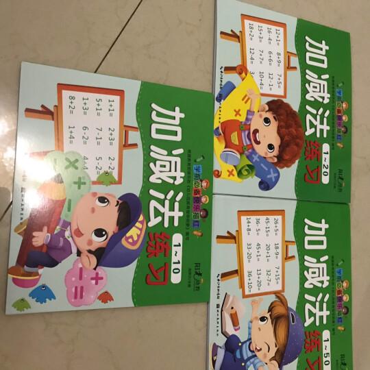 全套12本幼儿园学前描红本数字拼音汉字笔顺幼儿园学写字儿童字帖加减法练习册3-8岁 晒单图