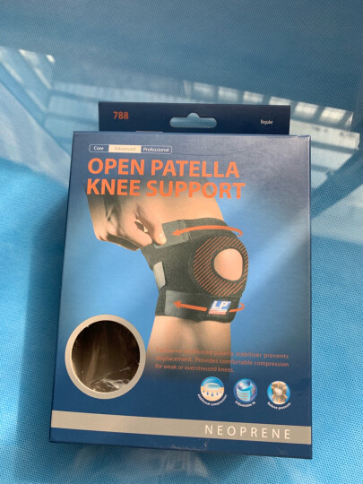 LP 运动护膝  篮球跑步骑行 徒步登山健身膝盖护具 透气绑带可调整型 788系列 788KM男女通用单只装 均码(不分左右) 晒单图