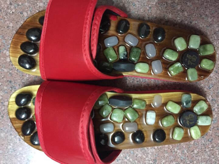 Gumila鹅卵石按摩拖鞋穴位足疗脚底按摩鞋春秋男女玛瑙家居凉拖鞋 8808磁石-黑色 41/42码适合41-42脚穿 晒单图
