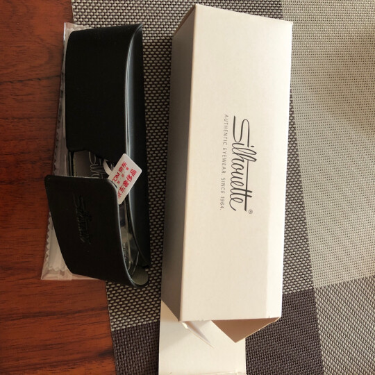 Silhouette 诗乐 中性款银色无框光学眼镜架眼镜框 7611 11 6050 51MM 晒单图
