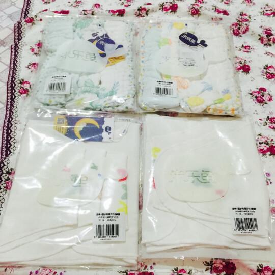米乐鱼儿童吸汗巾新生婴儿棉纱布隔汗垫背巾周末动物园3条装 晒单图