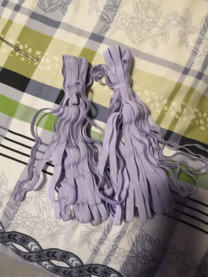 薄软细松紧带 宝宝婴儿裤子套袖弹力绳 儿童裤子橡皮筋 沙发套宽扁粗家用松紧带辅料 白色(偏紫,非漂白) 0.9cm宽 2把 (共18米长) 晒单图