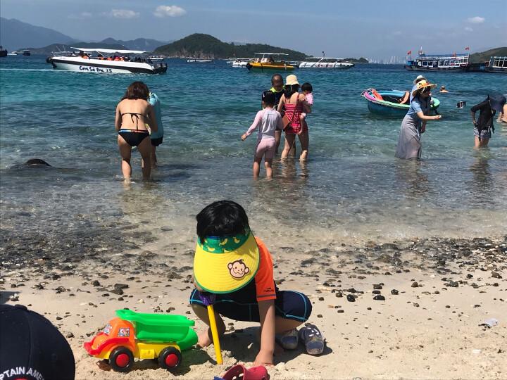 hugmii儿童帽子夏天卡通可爱男女童休闲空顶帽防紫外线太阳帽 猴子 晒单图