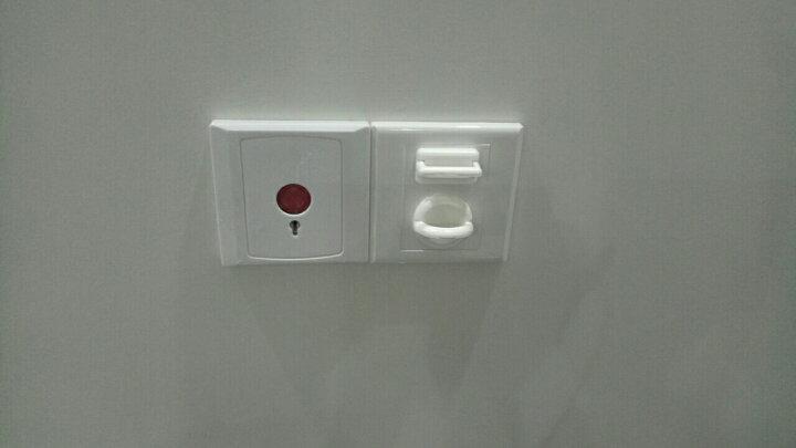 NISHIKI 日本插座保护盖 儿童安全防触电插座防护盖电源插孔塞子 亮白色 晒单图