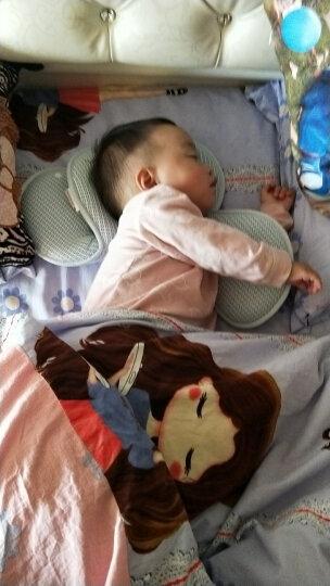 婴儿枕头0-1岁定型枕防偏头宝宝婴幼儿枕头新生儿矫正纠正偏头 (隔尿垫)浅蓝 晒单图
