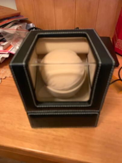 德克力时(Driklux)摇表器自动机械手表盒子上弦上链器表盒晃表器转表器德国进口 黑色鸵鸟PU+骆驼色绒 晒单图