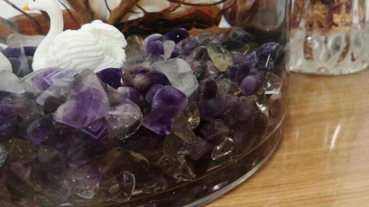 绿侬 天然消磁石手链净化保养 白黄粉紫消磁水晶碎石大颗粒饰品消磁碗 白水晶200g 晒单图
