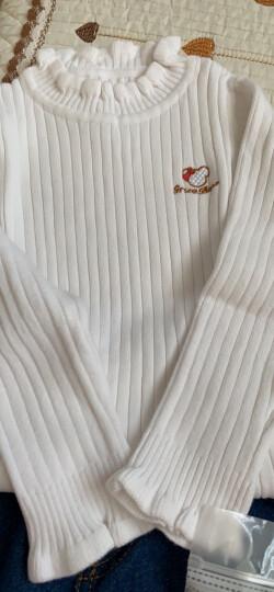 恩恩熊 女童毛衣高领小童儿童打底衫套头加厚针织衫童装婴儿宝宝童装上衣 大红(高领) 90(衣长37.5cm) 晒单图