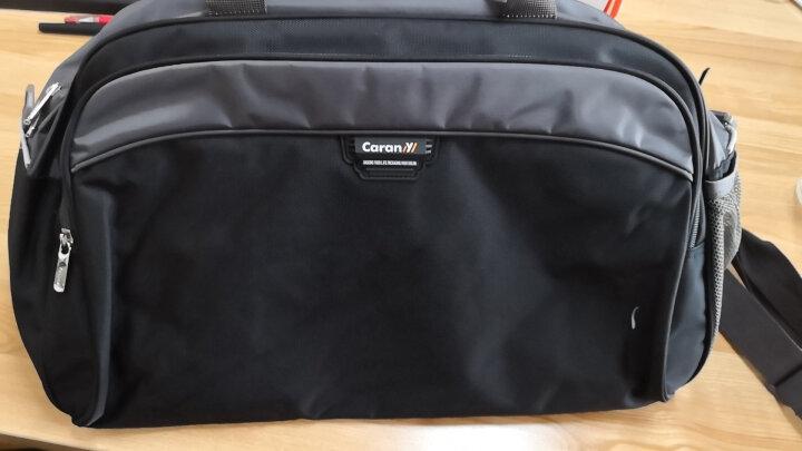 卡拉羊(Carany)防泼水单肩斜跨包手提旅行包大容量行李包C3189黑色厂家直送 晒单图