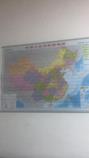 【启航版】新版 单幅双面中国世界地图挂图(办公室1.1m*0.8m) 晒单图