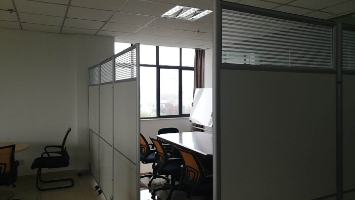 美轩戈上海办公室隔断移动屏风可折叠移动高隔断板式隔墙屏风简约现代 1000*2000三十公分玻璃一块带铝合金脚 晒单图