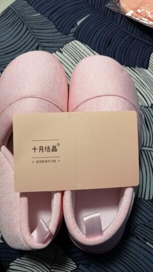 十月结晶  孕妇防滑软底拖鞋/家居包跟鞋/产前产后舒适月子鞋   产后修复 彩棉灰色40/41 晒单图