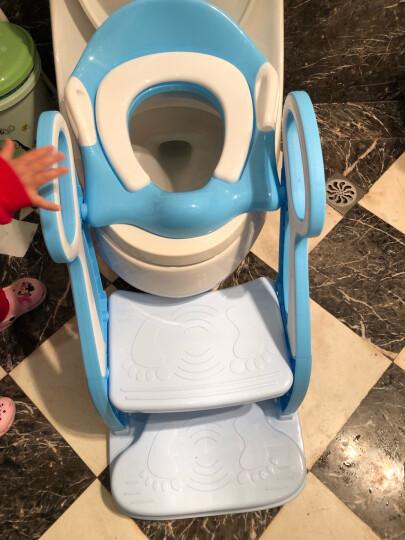 攸曼诚品(eudemon)儿童坐便器女宝宝马桶梯小孩男孩小马桶圈婴儿座垫圈大号便盆尿盆 升级款蓝色 晒单图