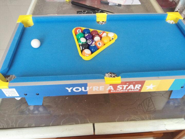 皇冠玩具( HUANGGUAN )绿色明星系列升级版小型儿童台球桌家用桌球 儿童玩具小桌子 玩具男孩游戏桌 221D 晒单图