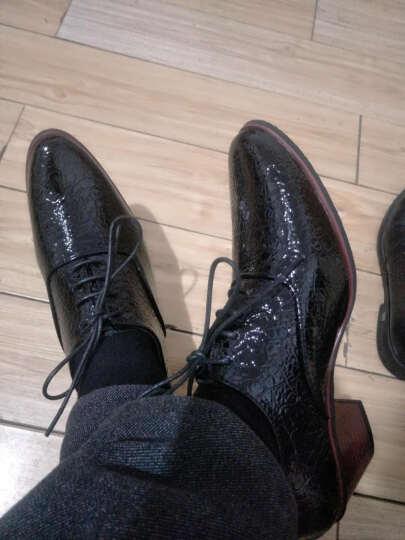 ACCPT TA 尖头皮鞋增高男士商务休闲鞋鳄鱼纹新郎鞋男士高跟小皮鞋 白色 39皮鞋码 晒单图