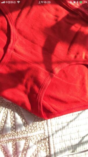 心地良品 红女士内裤高腰棉内裤加裆三角裤本命年红内裤提臀收腹产后保暖内裤 中国红2条装 均码 晒单图