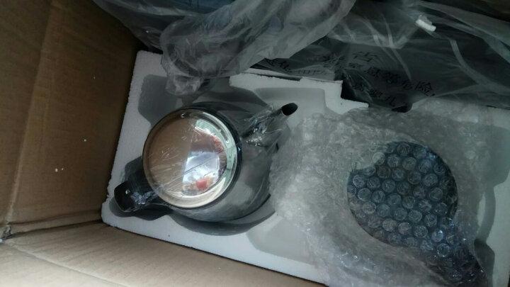 容威(rongwei) 烧水壶自动上水电热水壶304不锈钢电水壶抽水器套装玻璃保温电茶炉 黑色 晒单图