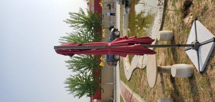 户外遮阳伞桌椅伞露台庭院花园帐篷伞折叠摆摊广告罗马伞大型沙滩伞休闲保安岗亭伞 2.5米经典款方伞送大理石底座 晒单图